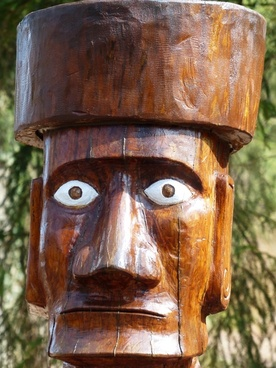 holzfigur carving view