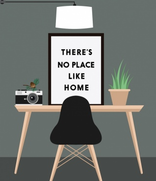 home decor background interior icons