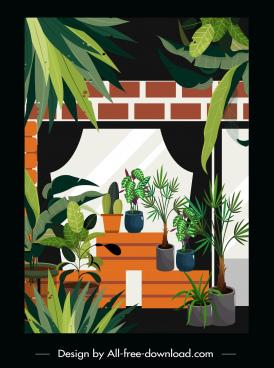 home decorative template houseplants decor classic design