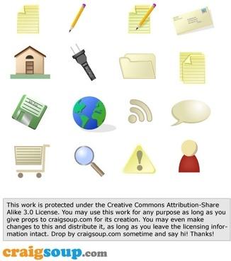Home electric plug pencil save shoping cart CS Matte Icons