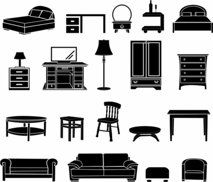 Home Furniture black and white icon