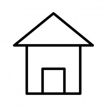 home line black icon