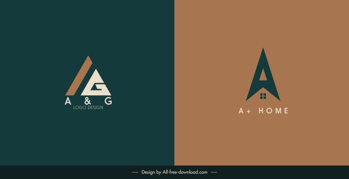 home logo template flat text shape decor