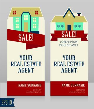 home sales card creative vector