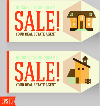 home sales card creative vector