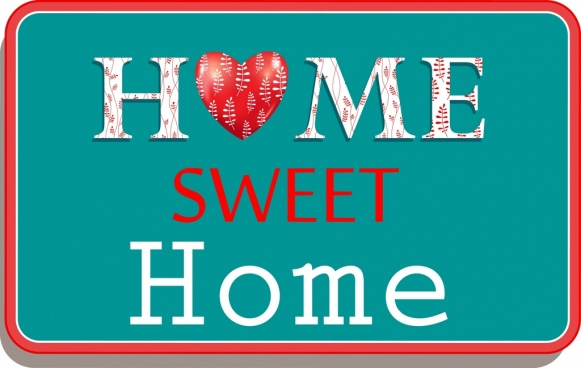 home sweet home background heart text ornament
