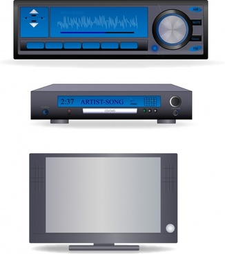 dvd design elements modern design screen player icons