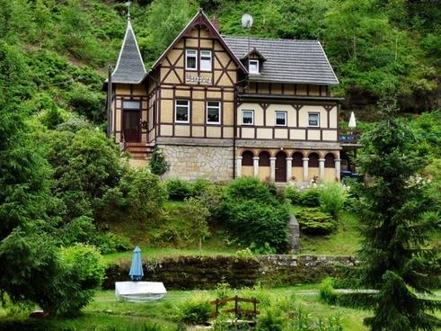 home wartburg castle in saxon switzerland building