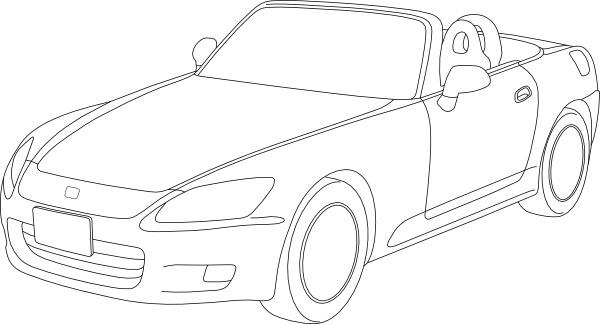 Honda S Outline clip art