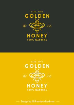 honey bee logotype flat handdrawn sketch