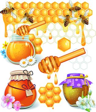 honey bee vector design elements