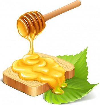 honey advertising background colored 3d design