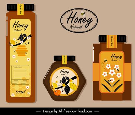 honey label templates classical flat decor