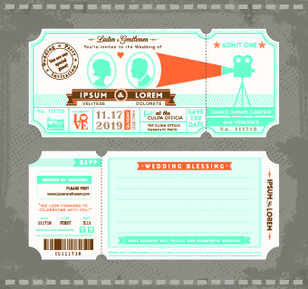 honeymoon travel ticket vector