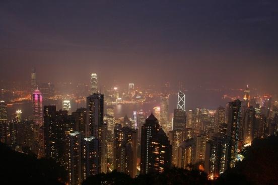 hong kong asia sky line