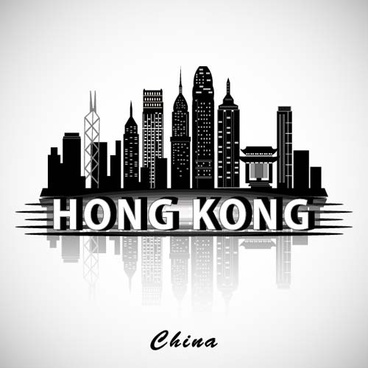 hong kong city background vector