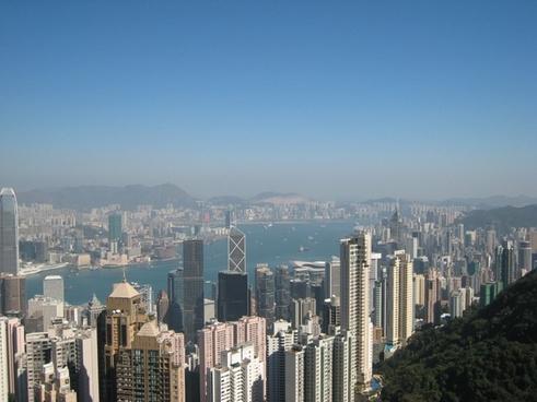 hong kong sky-line skyscrapers