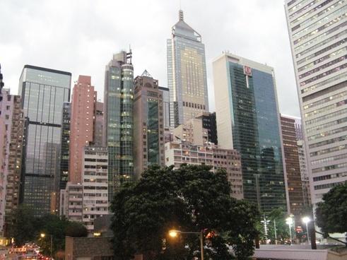 hong kong skyscrapers city