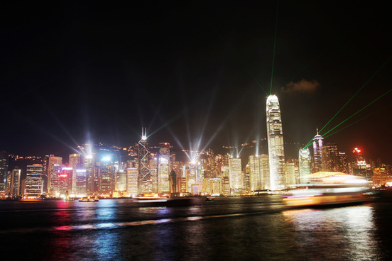 hong kongs symphony of light