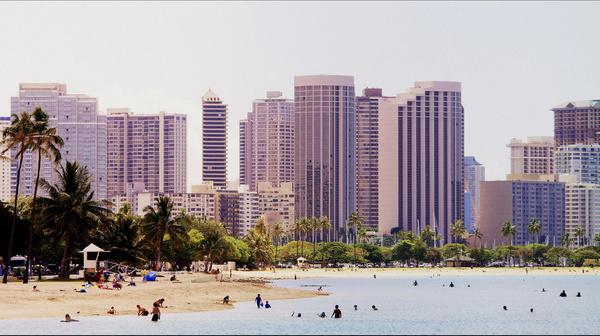 honolulu hawaii cityscape