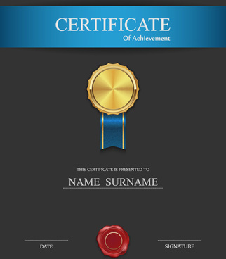 honor certificate creative design vector