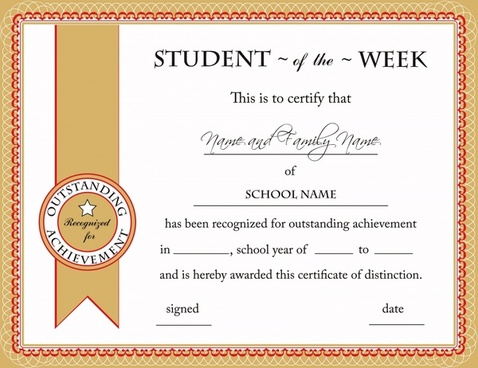 educational certificate template elegant classical design