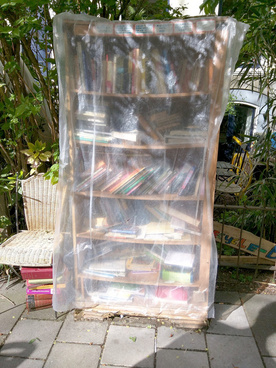 honor system book swap used book stall amsterdam the netherlands