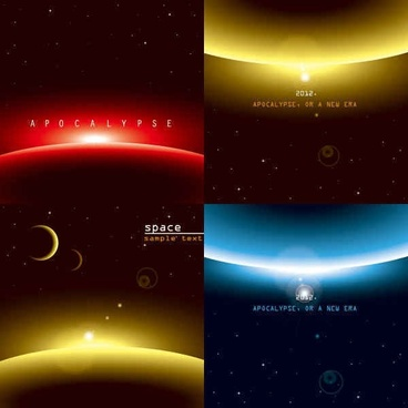 horizon sun background vector