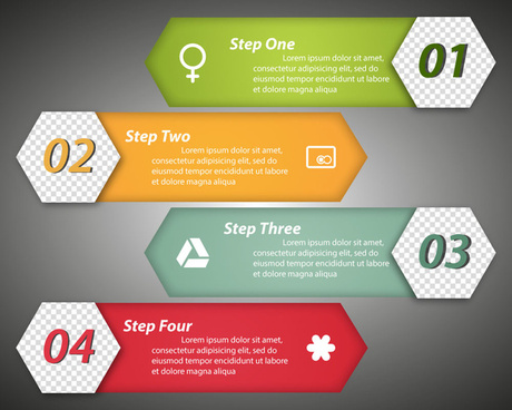 horizontal label template vector illustration of infographic diagram