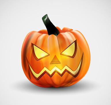 horror pumpkins halloween vector