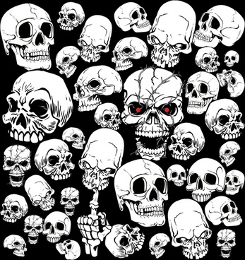 horror skull picture vector