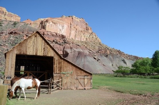 horse barn capitol reef national park
