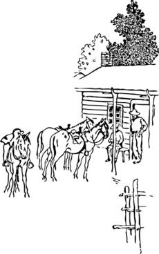 Horse Camp clip art