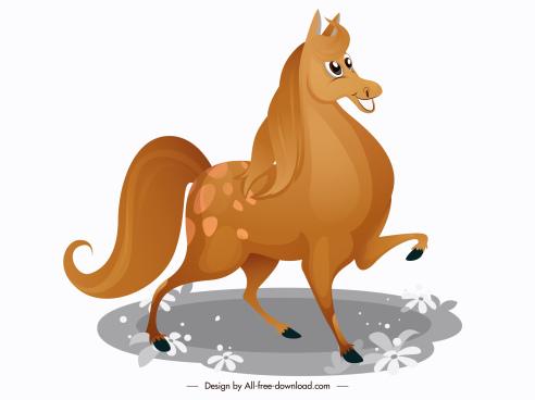 horse icon cute cartoon sketch