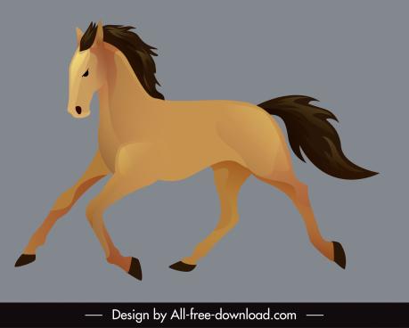 horse icon dynamic handdrawn design