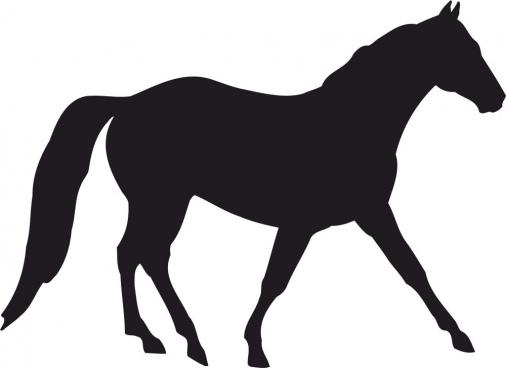 horse silhouette free cdr vectors art