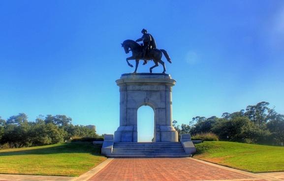 horse statue in houston texas