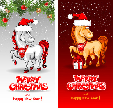 horse year creative design elements vector