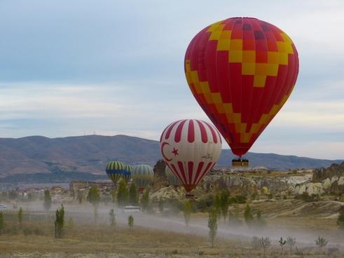 hot air balloon balloon drive