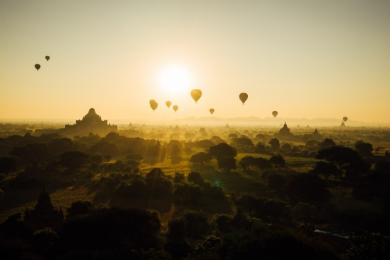 hot air balloon journey