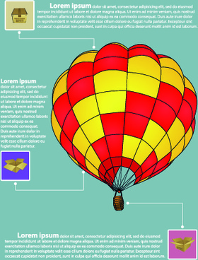 hot balloon business template vector