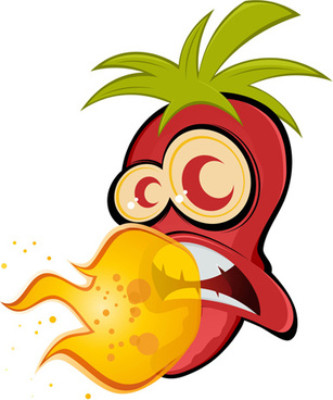 hot chili peppers funny cartoon vectors