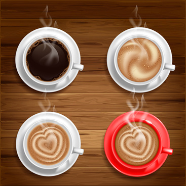 hot coffee vector