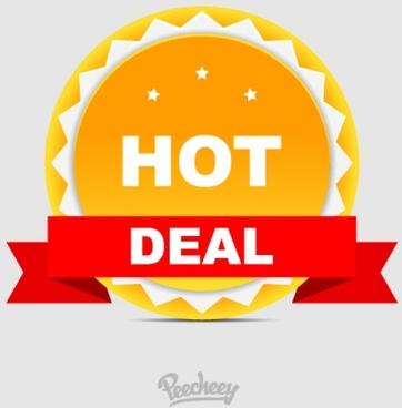 hot deal sticker