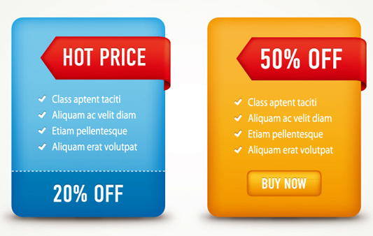 hot price label banner