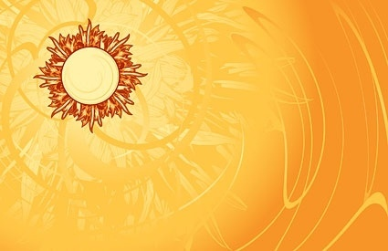 hot the sun and beautiful background vector