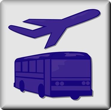 Hotel Icon Airport Shuttle clip art