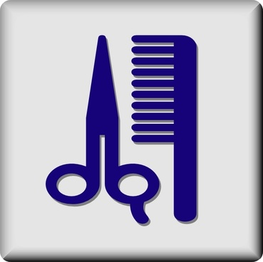 Hotel Icon Barber Or Hair Dresser clip art