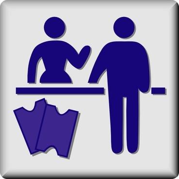 Hotel Icon Concierge clip art