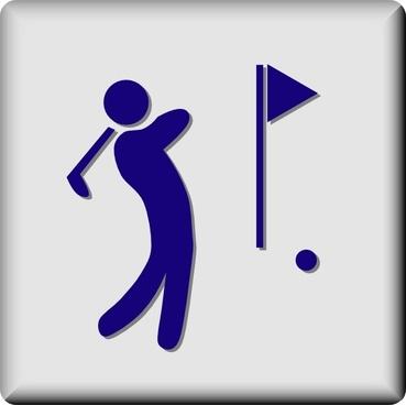 Hotel Icon Golf Course clip art